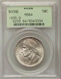 Commemorative Silver, 1935-D 50C Boone MS64 PCGS. PCGS Population: (445/480). NGC Census:(268/353). CDN: $130 Whsle. Bid for problem-free NGC/PC...
