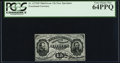 Fractional Currency:Third Issue, Fr. 1272SP 15¢ Third Issue Narrow Margin Face PCGS Very Choice New 64PPQ.. ...