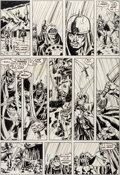 Original Comic Art:Panel Pages, Barry Windsor-Smith, Sal Buscema, Dan Adkins, and Chic StoneConan the Barbarian #23 Story Page 7 Original Art (Ma...