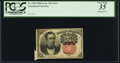 Fractional Currency:Fifth Issue, Butterfly Error Fr. 1265 10¢ Fifth Issue PCGS Very Fine 35.. ...