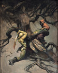 "Original Comic Art:Paintings, Frank Frazetta ""Tree of Death"" Painting Original Art (1970)...."