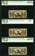 Fractional Currency:Third Issue, Fr. 1362 50¢ Third Issue Justice PCGS Extremely Fine 40PPQ;. Fr. 1363 50¢ Third Issue Justice PCGS Extremely Fine 45PPQ;... (Total: 3 notes)