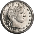 Proof Barber Quarters, 1902 25C PR66 Cameo PCGS. CAC....
