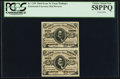 Fractional Currency:Third Issue, Fr. 1236 5¢ Third Issue Vertical Pair PCGS Choice About New 58PPQ.. ...