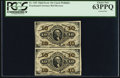 Fractional Currency:Third Issue, Fr. 1251 10¢ Third Issue Vertical Pair PCGS Choice New 63PPQ.. ...