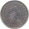 Early Half Dollars, 1794 50C O-101a, T-7, High R.3 -- Environmental Damage -- PCGSGenuine. VF Details....