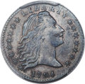 Early Half Dimes, 1794 H10C V-4, LM-4, R.4 -- Cleaned -- PCGS Genuine. AU Details....