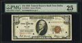 Small Size:Federal Reserve Bank Notes, Fr. 1860-K $10 1929 Federal Reserve Bank Note. PMG Very Fine 25.. ...