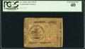 Colonial Notes:Continental Congress Issues, Continental Currency May 10, 1775 $5 PCGS Extremely Fine 4...