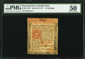 Colonial Notes:Pennsylvania, Pennsylvania March 20, 1771 20s PMG About Uncirculated 50.. ...