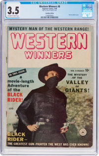 Western Winners #8 Canadian Edition (Superior Comics, 1950) CGC VG- 3.5 Off-white to white pages