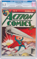 Golden Age (1938-1955):Superhero, Action Comics #19 (DC, 1939) CGC FN+ 6.5 Off-white to white pages....