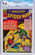 Silver Age (1956-1969):Superhero, The Amazing Spider-Man #11 (Marvel, 1964) CGC NM+ 9.6 Cream tooff-white pages....