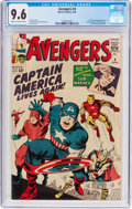 Silver Age (1956-1969):Superhero, The Avengers #4 (Marvel, 1964) CGC NM+ 9.6 Cream to off-whitepages....