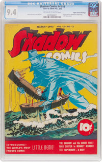 Shadow Comics V2#3 Mile High Pedigree (Street & Smith, 1942) CGC NM 9.4 Off-white to white pages
