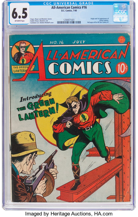 All-American Comics #16 (DC, 1940) CGC FN+ 6.5 Off-white pages....