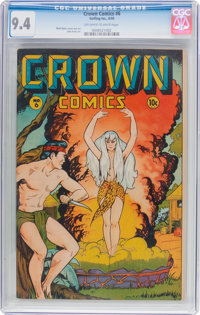 Crown Comics #6 (Golfing, Inc., 1946) CGC NM 9.4 Off-white to white pages