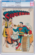 Golden Age (1938-1955):Superhero, Superman #42 (DC, 1946) CGC NM- 9.2 Off-white to white pages....