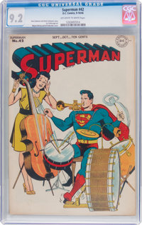 Superman #42 (DC, 1946) CGC NM- 9.2 Off-white to white pages