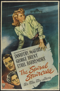 "The Spiral Staircase (RKO, 1945). One Sheet (26"" X 40""). Thriller"