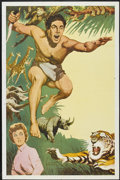 "Movie Posters:Adventure, Tarzan Stock Poster (MGM, 1950s). One Sheet (27"" X 41"").Adventure...."
