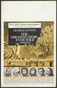 "The Greatest Story Ever Told (United Artists, 1965). Window Card (14"" X 22""). Drama"