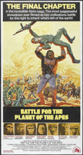"Movie Posters:Science Fiction, Battle for the Planet of the Apes (20th Century Fox, 1973). ThreeSheet (41"" X 77""). Science Fiction...."