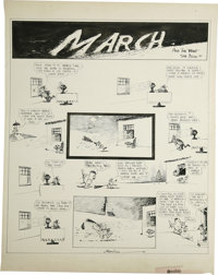 George Herriman - Krazy Kat Sunday Comic Strip Original Art, dated 3-9-19 (King Features Syndicate, 1919)