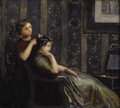 Fine Art - Painting, European:Antique  (Pre 1900), AUGUSTE TOULMOUCHE (French 1829-1890). Interior. Oil oncanvas. 11-1/2 x 12-3/4 inches (29.2 x 32.4 cm). Signed lower le...