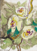 Fine Art - Painting, American:Modern  (1900 1949)  , JANE PETERSON (American 1876-1965). Bouquet of Roses.Watercolor and ink on paper. 16-1/2 x 12 inches (41.9 x 30.5 cm)....