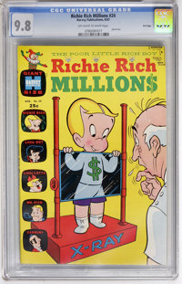 Richie Rich Millions #24 File Copy (Harvey, 1967) CGC NM/MT 9.8 Off-white to white pages