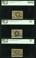 Fractional Currency:Second Issue, Fr. 1284 25¢ Second Issue PCGS Choice About New 58PPQ. Fr. 1285 25¢ Second Issue PCGS Choice About New 58. Fr. 1286 25... (Total: 3 notes)