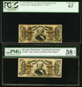 Fractional Currency:Third Issue, Five 50¢ Third Issue Spinner Red Back Notes.. ... (Total: 5 notes)