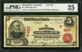 National Bank Notes:Vermont, Montpelier, VT - $5 1902 Red Seal Fr. 587 The Montpelier NB Ch. # (N)857. ...