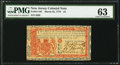 Colonial Notes:New Jersey, New Jersey March 25, 1776 £3 PMG Choice Uncirculated 63.. ...