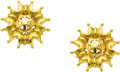 Estate Jewelry:Earrings, Gold Earrings, Boris Le Beau. Each 18k yellow gold earring is highlighted by openwork, having a satin finish with high pol... (Total: 1 Item)