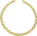 Estate Jewelry:Necklaces, Diamond, Gold Necklace. The necklace features full-cut diamondsweighing a total of approximately 3.50 carats, pavé set in...(Total: 1 Item)
