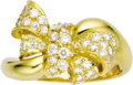 Estate Jewelry:Rings, Diamond, Gold Ring. The ring, designed as a bow, features full-cutdiamonds weighing a total of approximately 1.25 carats,... (Total:1 Item)