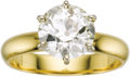 Estate Jewelry:Rings, Diamond, Gold Ring. The ring features a European-cut diamondmeasuring 8.79 - 8.82 x 5.00 mm and weighing approximately 2....(Total: 1 Item)