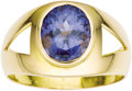 Estate Jewelry:Rings, Gentleman's Tanzanite, Gold Ring. The ring features an oval-shaped tanzanite measuring 12.00 x 10.00 x 7.25 mm and weighin... (Total: 1 Item)