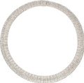 Estate Jewelry:Necklaces, Diamond, White Gold Necklace. The necklace features full-cut diamonds weighing a total of approximately 36.50 carats, set ... (Total: 1 Item)