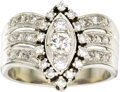 Estate Jewelry:Rings, Diamond, Gold Ring. The ring features full-cut diamonds weighing atotal of approximately 0.45 carat, enhanced by single-c... (Total:1 Item)