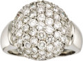 Estate Jewelry:Rings, Diamond, White Gold Ring. The ring features full-cut diamondsweighing a total of approximately 3.00 carats, pavé set in 1...(Total: 1 Item)