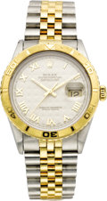 Timepieces:Wristwatch, Rolex Men's Gold, Stainless Steel Oyster Perpetual DatejustBracelet Wristwatch, circa 1993. Case: 36 mm, stainless steel ...(Total: 1 Item)