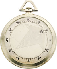 Breguet White Gold Arrow No. 1771 Opeface Pocket Watch, circa 1927  Case: 45 mm, smooth 18k white gold with pressure sea...