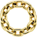 Estate Jewelry:Bracelets, Gold Bracelet, Tiffany & Co.. The bracelet features largeoval-shaped links in 14k yellow gold. Marked Tiffany for Tiffany...(Total: 1 Item)