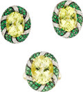 Estate Jewelry:Coin Jewelry and Suites, Citrine, Tsavorite, Diamond, Gold Jewelry Suite. The suite includes: one ring featuring an oval-shaped citrine measuring 1... (Total: 1 Item)