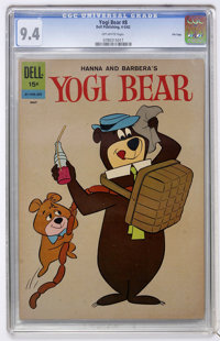 Yogi Bear #8 File Copy (Dell, 1962) CGC NM 9.4 Off-white pages
