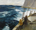 Paintings, CHARLES PAUL GRUPPE (American 1860-1940). On High Seas. Oil on canvas. 30-1/4 x 36 inches (76.8 x 91.4 cm). Signed lower...