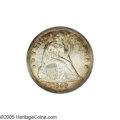 Seated Dollars: , 1849 $1 MS62 NGC. Lower mintage and higher grade for this earlierSeated dollar. Fields are relatively clean with a gentle...